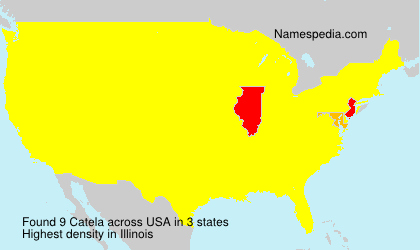 Surname Catela in USA