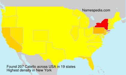 Surname Catello in USA