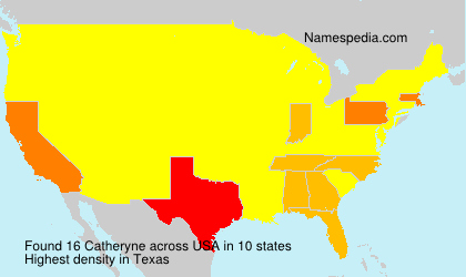 Surname Catheryne in USA