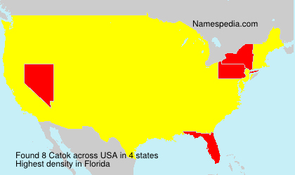 Surname Catok in USA