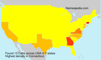 Surname Catta in USA