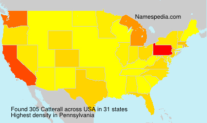 Surname Catterall in USA