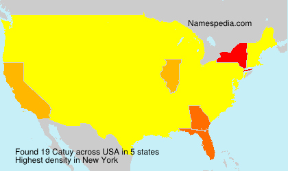 Surname Catuy in USA