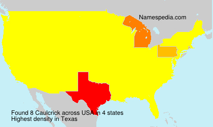 Surname Caulcrick in USA