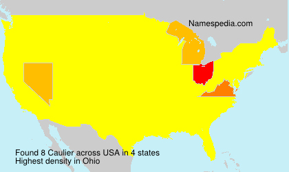 Surname Caulier in USA