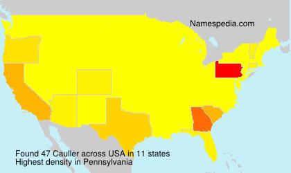Familiennamen Cauller - USA