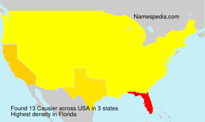 Surname Causier in USA