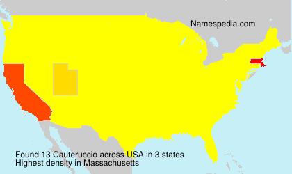 Familiennamen Cauteruccio - USA