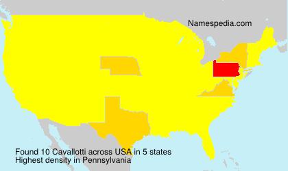 Surname Cavallotti in USA