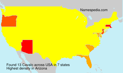 Familiennamen Cavalo - USA