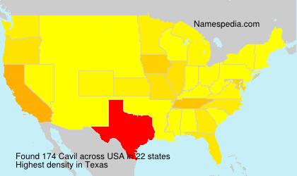 Surname Cavil in USA