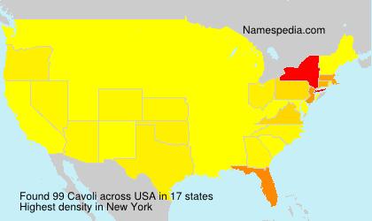 Familiennamen Cavoli - USA