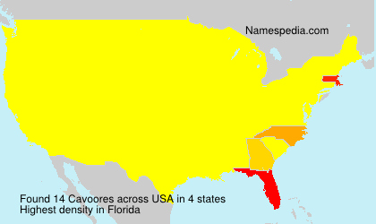 Surname Cavoores in USA