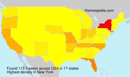 Familiennamen Cawein - USA