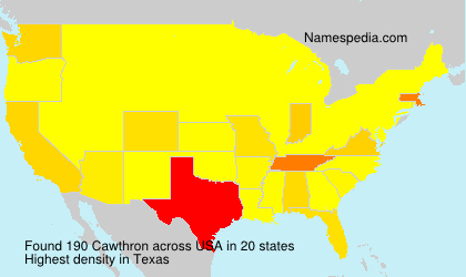 Surname Cawthron in USA