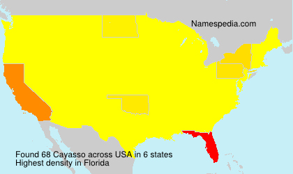 Surname Cayasso in USA