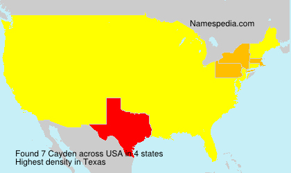 Surname Cayden in USA