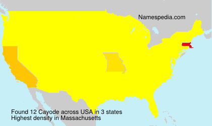 Surname Cayode in USA