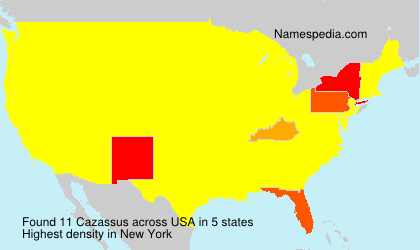 Surname Cazassus in USA
