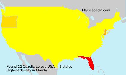 Surname Cazella in USA