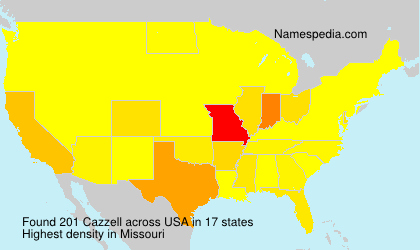 Surname Cazzell in USA
