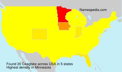 Familiennamen Ceaglske - USA
