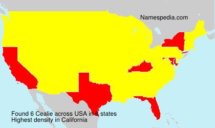 Familiennamen Cealie - USA