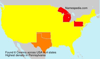 Familiennamen Ceanna - USA