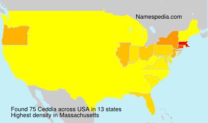 Surname Ceddia in USA