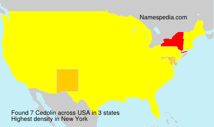 Surname Cedolin in USA