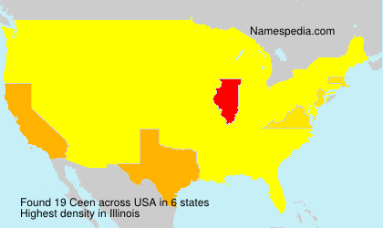 Surname Ceen in USA