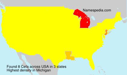 Surname Cefa in USA