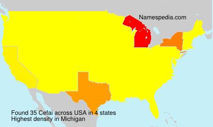 Surname Cefai in USA