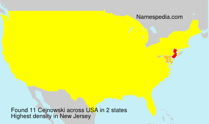 Surname Cejnowski in USA