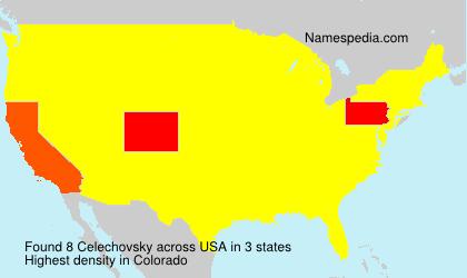 Surname Celechovsky in USA