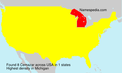 Surname Cemazar in USA