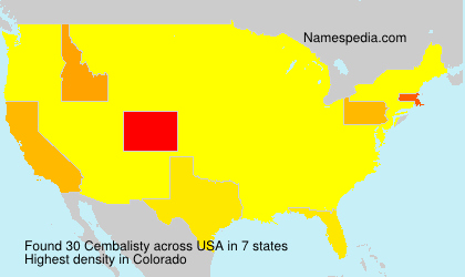 Surname Cembalisty in USA