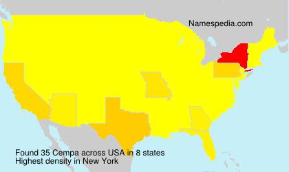 Familiennamen Cempa - USA