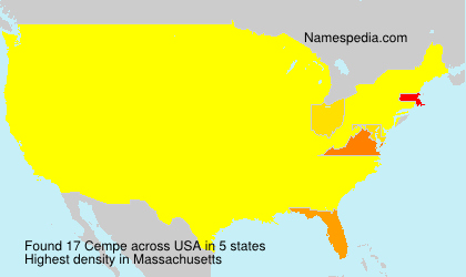 Familiennamen Cempe - USA