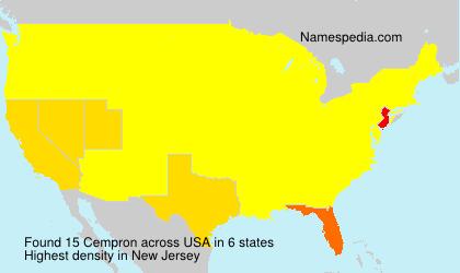 Familiennamen Cempron - USA