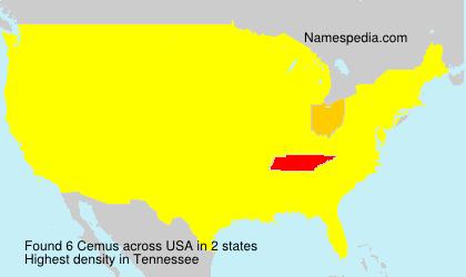 Familiennamen Cemus - USA