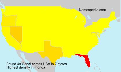 Familiennamen Cenal - USA
