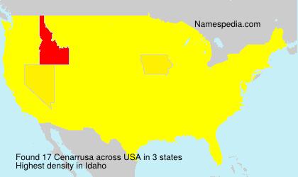 Familiennamen Cenarrusa - USA