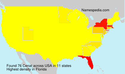 Familiennamen Cenat - USA