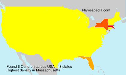 Surname Cendron in USA