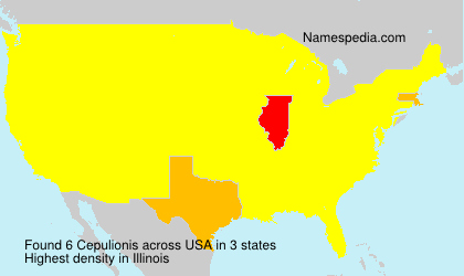 Surname Cepulionis in USA