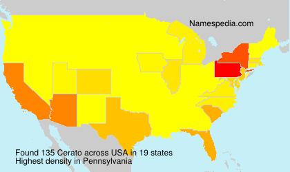 Surname Cerato in USA