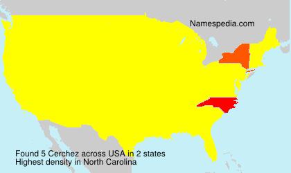 Surname Cerchez in USA