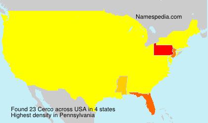 Surname Cerco in USA