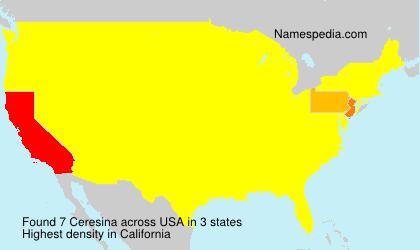 Familiennamen Ceresina - USA